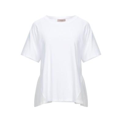 ツインセット シモーナ バルビエリ TWINSET T シャツ ホワイト S コットン 100% / ポリエステル T シャツ