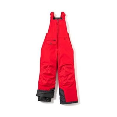 (テスラ)TESLA キッズ スキー スノーボードパンツ オーバーオール ビブパンツ 冬アウトドアスポーツKKO75-RED_L
