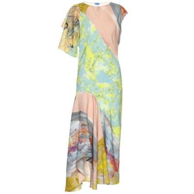 ミュグレー Mugler レディース ワンピース ミドル丈 ワンピース・ドレス Printed midi dress Pink/Yellow