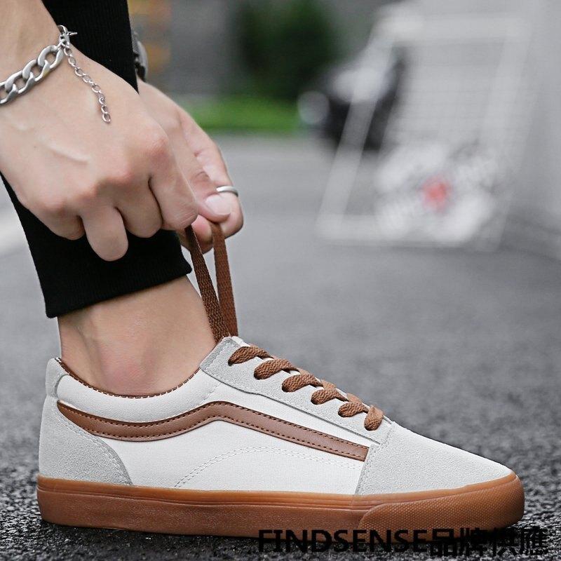 FINDSENSE品牌 秋款 新款 日本 男 高品質 個性  簡約 舒適耐磨 運動 橡膠底 板鞋 休閒鞋 潮流鞋子