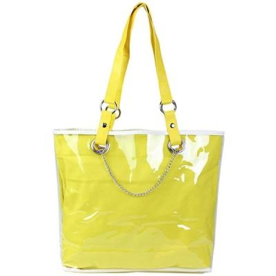 [ラ クラッセ] 痛バッグ 痛バ 痛いバッグ トートバッグ クリアコート トートバッグ 痛バッグの制作に イエロー 黄色