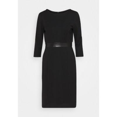 エス オリバー ブラック ラベル レディース ワンピース トップス Shift dress - true black true black