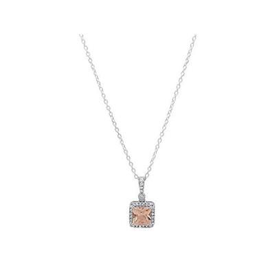 特別価格Dazzlingrockコレクション 14K 6mm 宝石&ダイヤモンド レディースペンダント (シルバーチェーン付属) ホワイトゴールド シルバー好評販売中