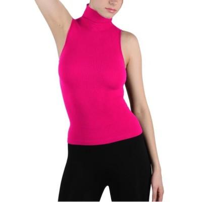 レディース 衣類 トップス Women Seamless Sleeveless Mock Neck Turtleneck Shirt Shaping Ribbed Tank Top Tシャツ