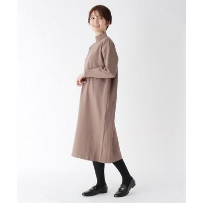 CORDIER(コルディア) ジャージ風ハイネックニットワンピース