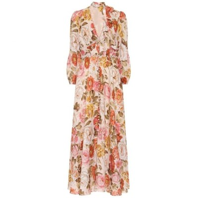 ジマーマン Zimmermann レディース ワンピース ワンピース・ドレス Bonita floral linen dress Cream Floral