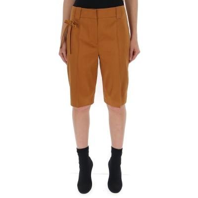 プラダ レディース カジュアルパンツ ボトムス Prada Bow-Detail Tailored Shorts -