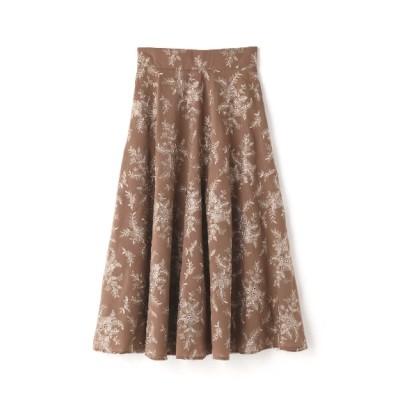 JILLSTUART (ジルスチュアート) レディース ミシェル刺繍ロングスカート BROWN(050) 2