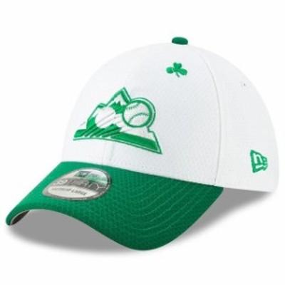 New Era ニュー エラ スポーツ用品  New Era Colorado Rockies White/Kelly Green 2019 St. Patricks Day 39THIRTY Flex Hat