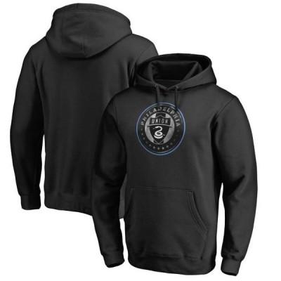 ユニセックス スポーツリーグ サッカー Philadelphia Union Fanatics Branded Core Smoke Pullover Hoodie - Black トレーナー