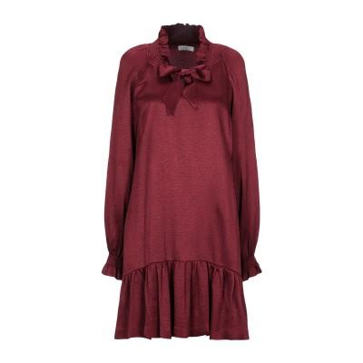 SANDRO ミニワンピース&ドレス ボルドー 36 アセテート 55% / レーヨン 45% ミニワンピース&ドレス