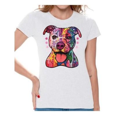 レディース 衣類 トップス Awkward Styles Dog T-Shirt Pit Bull T Shirts for Women Tシャツ