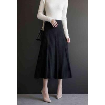 スカート ロング 黒 おしゃれ レディース 膝丈 大きいサイズ