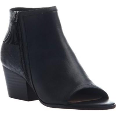 ニコル レディース ブーツ&レインブーツ シューズ Ania Open Toe Bootie Black Leather