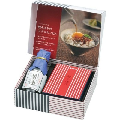 ギフト包装・18箱セット  柳屋本店 玉子かけ醤油と鰹そぼろセット TKM-10(直送品)