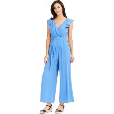 チャータークラブ Charter Club レディース オールインワン ワンピース・ドレス Flutter-Sleeve Cropped Jumpsuit Baywater Blue