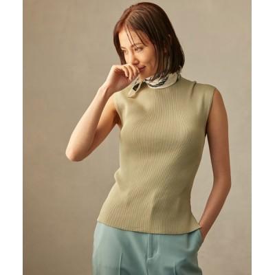 ROPE' / 【追加】美シルエット リブフレンチスリーブニット WOMEN トップス > Tシャツ/カットソー