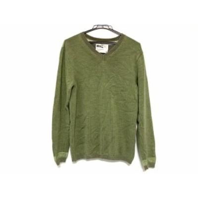 マーガレットハウエル MHL. 長袖セーター サイズM メンズ グリーン【中古】20200729