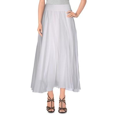 EUROPEAN CULTURE 7分丈スカート ホワイト XXS コットン 99% / ポリウレタン 1% 7分丈スカート