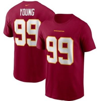 ナイキ メンズ Tシャツ トップス Chase Young Washington Football Team Nike Player Name & Number T-Shirt Burgundy