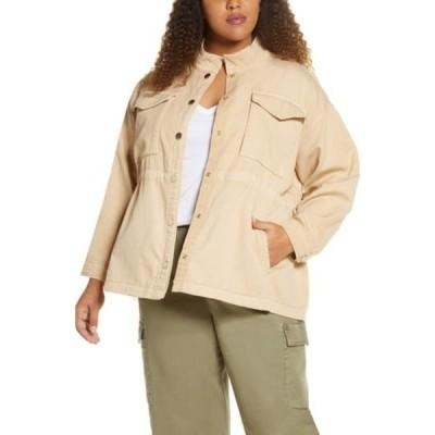 ハビチュアル レディース ジャケット&ブルゾン アウター Kassidy Cavalry Cotton Utility Jacket NEW TAN