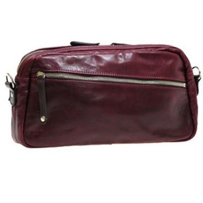 日本製 豊岡製鞄 姫路産レザー ショルダーバッグ メンズ 斜めがけ 本革 ボディバッグ 斜めがけバッグ 本革バッグ 斜めがけ 2way ワインレッド
