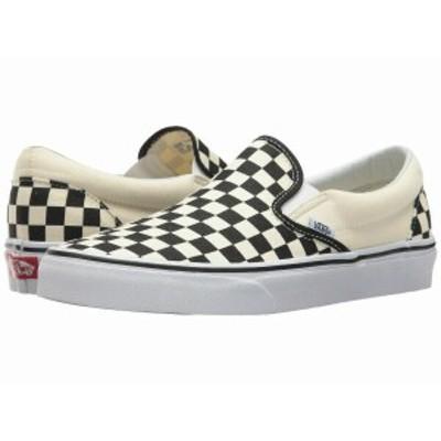 (取寄)Vans(バンズ) スリッポン クラシック スリップーオン メンズ  Vans Men's Classic Slip-On  Black and White Checker/White (Canva