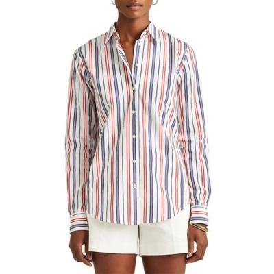 ラルフローレン レディース シャツ トップス Women's Striped Cotton Broadcloth Shirt