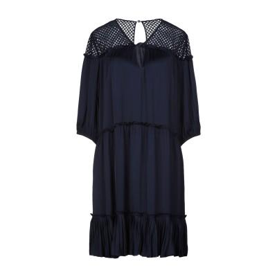 ピンコ PINKO ミニワンピース&ドレス ダークブルー 42 100% レーヨン コットン ナイロン ミニワンピース&ドレス
