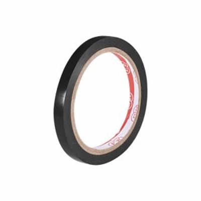 uxcell 注意警告ステッカー粘着テープ PVCマーキングテープ 17 Mx10mm(LxW) 職場のウェットフロア用 ブラック