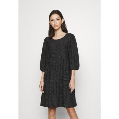 ヴェロモーダ レディース ジャージドレス VMSKY SHORT DRESS - Jersey dress - black/silver