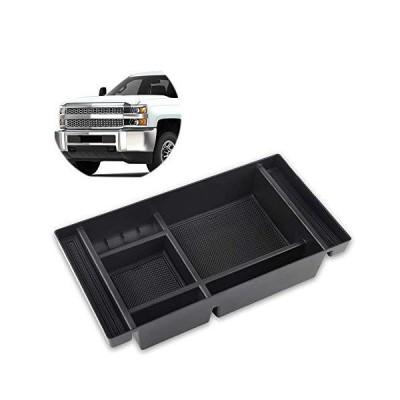 Richeer Center Console Organizer Tray Compatible with 2019-2020 Silverado 1500 2019-2020 Sierra 1500 2020 Silverado/Sierra 2500/3500HD - Ful