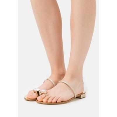 カサディ レディース サンダル シューズ SORAYA - T-bar sandals - oro oro