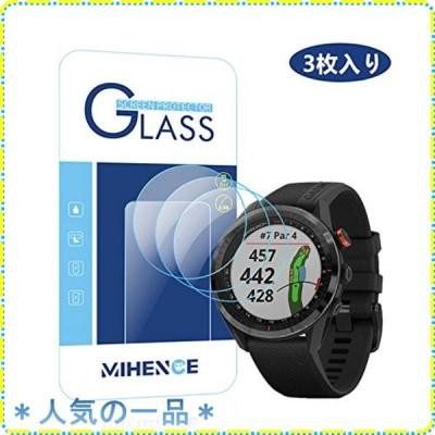 【3枚入り】 Mihence Compatible (ガーミン) Garmin Approach S62 保護フィルム, 9H ガラス保護フィルム 対応 GARMIN (ガーミン)