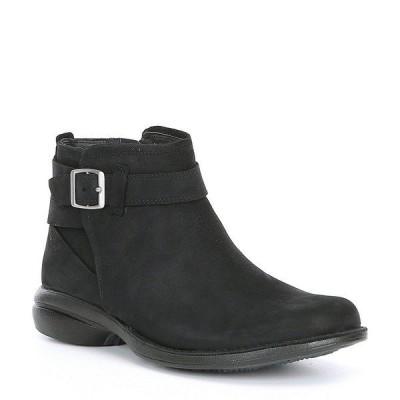 メレル レディース ブーツ&レインブーツ シューズ Andover Bluff Waterproof Leather Buckle Strap Detail Ankle Booties Black