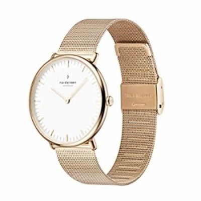 Nordgreen Native Scandinavian Gold Unisex Analog 40mm (Large) Watch with Gold Mesh Strap 10086