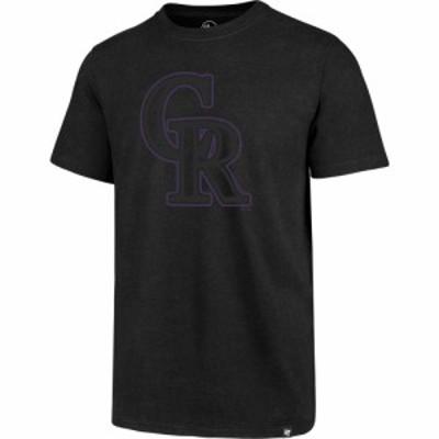 フォーティセブン 47 メンズ Tシャツ トップス New York Mets Black Club Tee