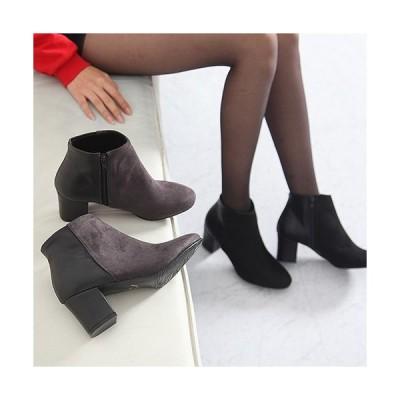 ブーティ ブーティー 切り替え サイドジッパー ブーティ レディース ファッション レディース 靴 婦人靴 30代 40代