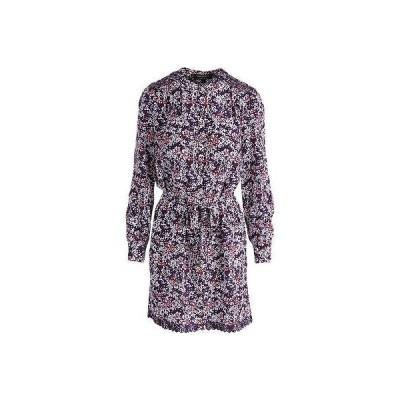 ジューシークチュールブラックレーベル ドレス ワンピース Juicy Couture ブラック ラベル 4957 レディース スノー Sonnet パープル シルク Shirtドレス XL BHFO
