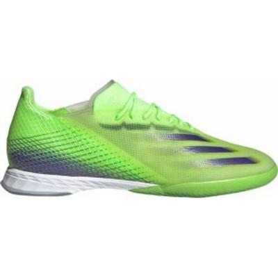 アディダス メンズ スニーカー シューズ adidas Men's X Ghosted.1 Indoor Soccer Shoes Green/Purple