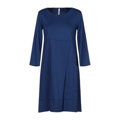 CORINNA CAON ミニワンピース&ドレス ブルー M レーヨン 63% / ナイロン 32% / 指定外繊維(その他伸縮性繊維) 5% ミニ