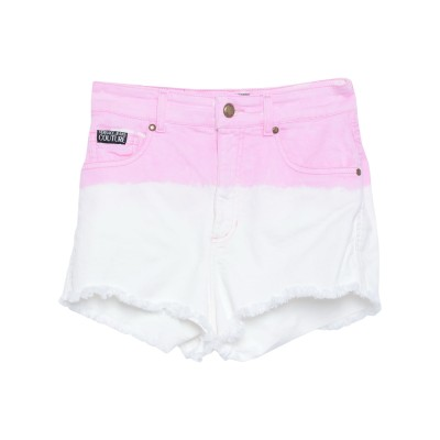 VERSACE JEANS COUTURE デニムショートパンツ ピンク 28 コットン 98% / ポリウレタン 2% デニムショートパンツ