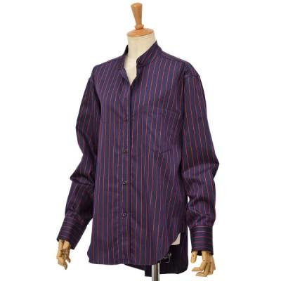 【size S】Bagutta【バグッタ】ビッグシルエットシャツ ALE 09604 230 コットン ネイビー レッド