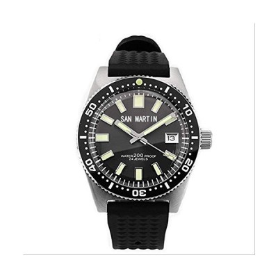 WDXDP Clock Watch Men Automatic Watch Stainless Steel Diving Watch 200M Water Resistant 12 Luminous Bezel Watches Man With Logo 並行輸入品