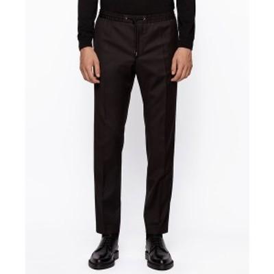 ヒューゴボス メンズ カジュアルパンツ ボトムス BOSS Men's Banks_RET Slim-Fit Trousers Black
