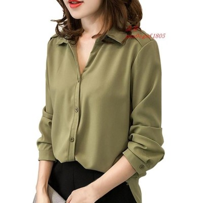 FashionSpring 長袖シフォン女性ブラウスシャツ正式な女性 トップス blusas グループ上 レディース衣服 から ブラウス シャツ 中