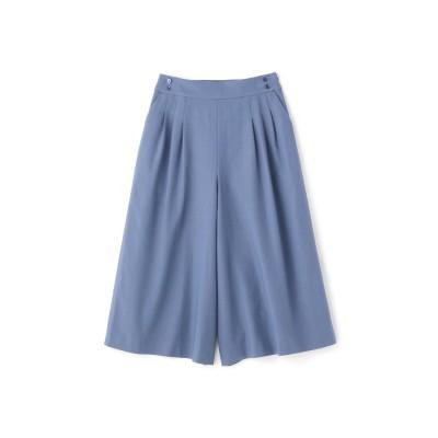 ◆強撚レーヨン綿ポリツイルパンツ ブルー