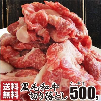 牛肉 肉 食品 黒毛和牛 切り落とし 500g 250×2p 国産 贅沢 母の日 父の日 ギフト 2021 霜降り メガ盛り 2セット以上でオマケ付 小分け 真空 冷凍 送料無料