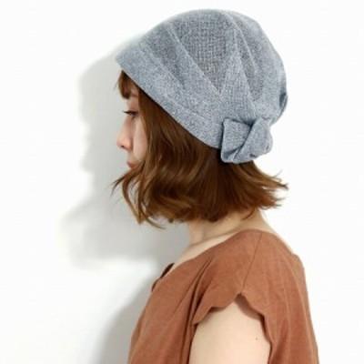 エリートシャポー 帽子 ニット レディース ニット帽 サマーニット リボン 春 夏 ターバン ヘアターバン 涼しい 柔らかい 光沢 婦人帽子