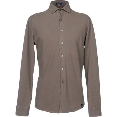 ドルモア DRUMOHR メンズ シャツ トップス solid color shirt Light brown